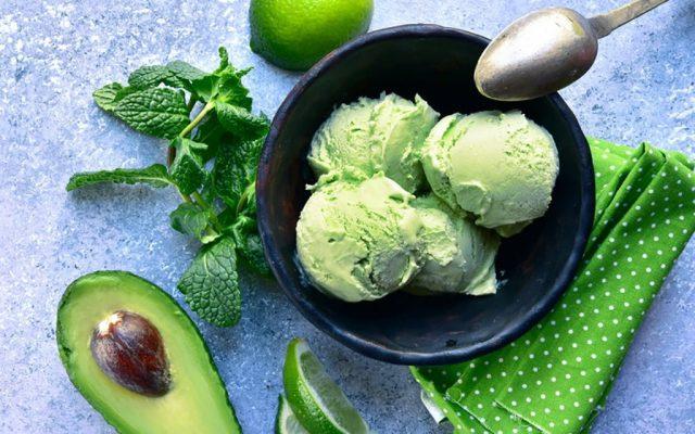 Sorvete abacate com limão