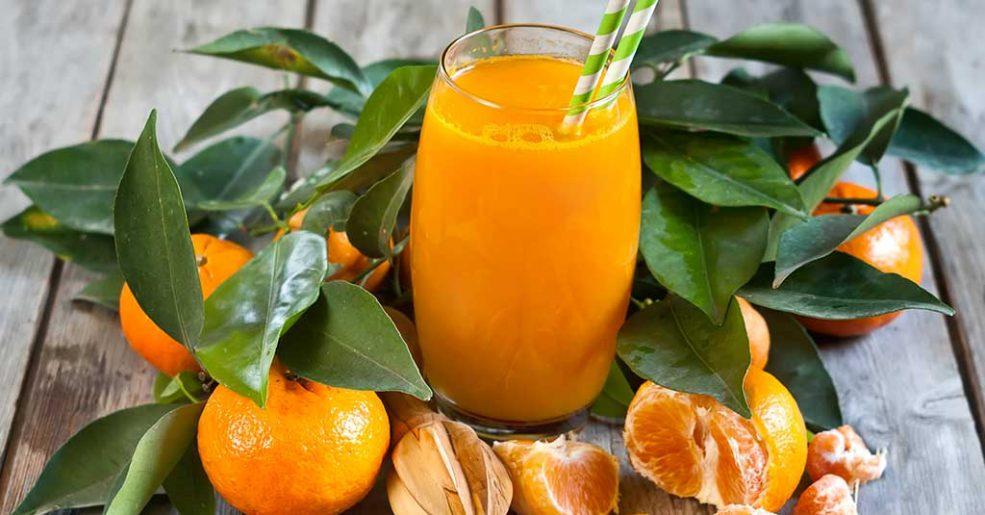 Suco detox de tangerina com gengibre aumenta a saciedade
