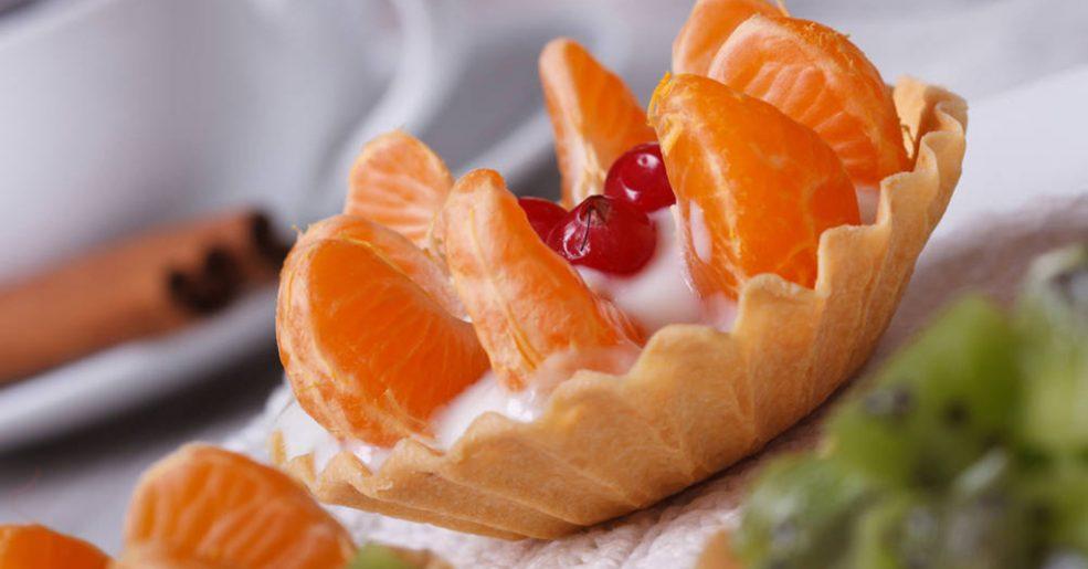 Tortinhas com Frutas Frescas